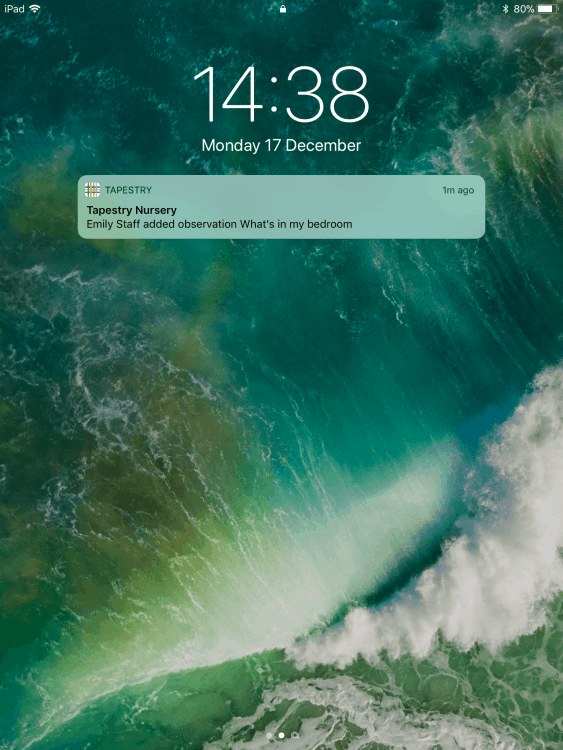Push notification on an ipad
